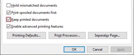 Druckaufträge nicht Löschen